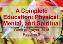 A Complete Education: Physical, Mental, and Spiritual – Reading 3